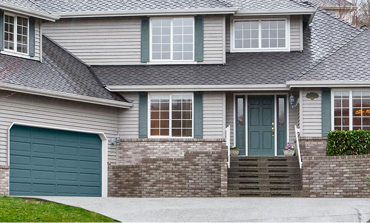 A Garage Door Project Is The Perfect Opportunity To Repaint Your Front Door  Using Sherwin Williams Emerald® Exterior Urethane Trim Enamel, ...