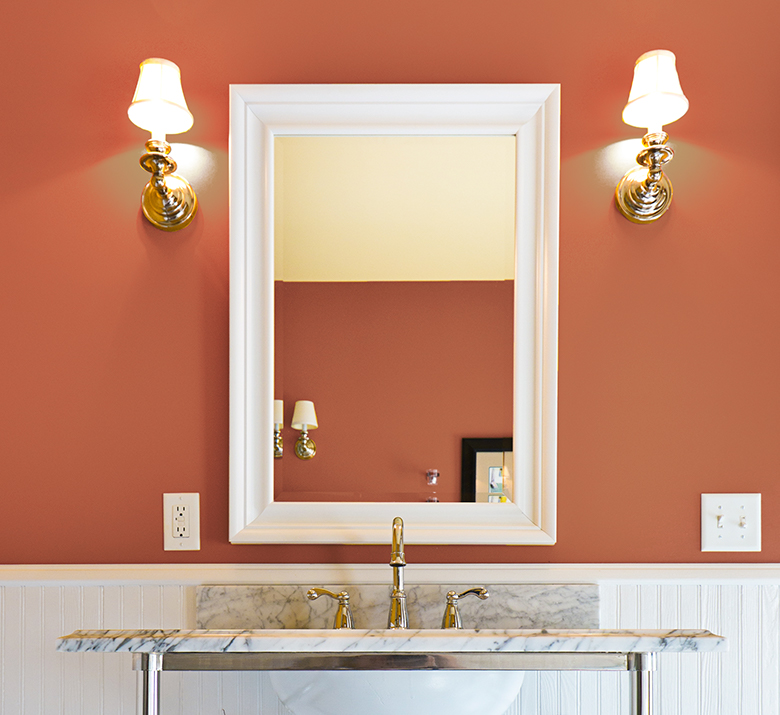 Cavern Clay SW 7701 & 5 Most Energizing Bathroom Colors